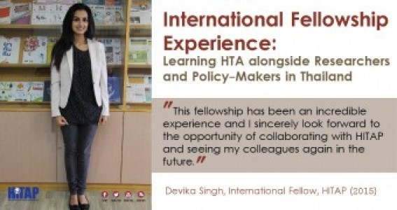 International Fellowship Experience: Learning HTA alongside Researchers and Policy-Makers in Thailand