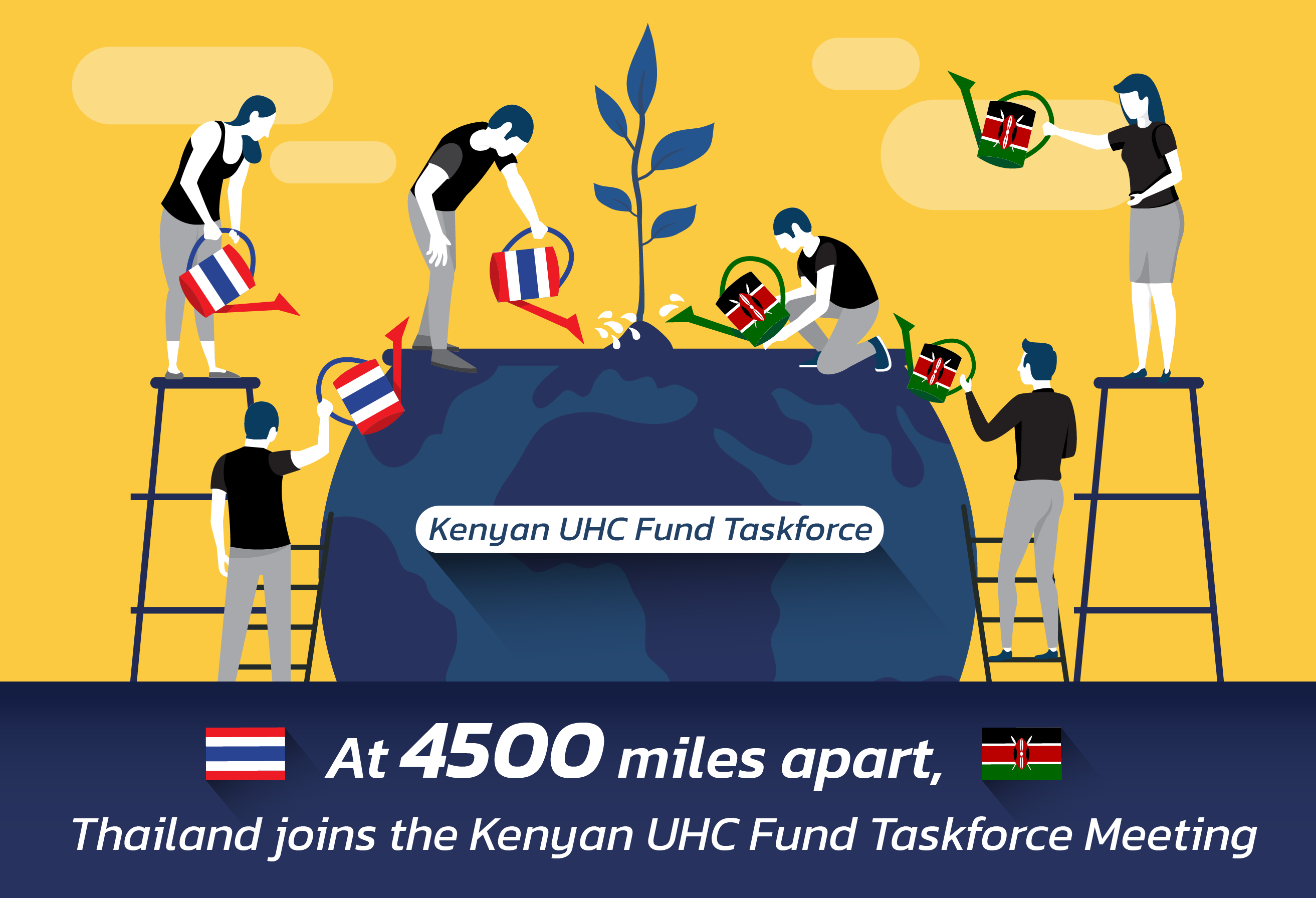 At 4500 miles apart, Thailand joins the Kenyan UHC Fund Taskforce Meeting